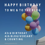 Happy Blogiversary Not Dressed As Lamb (& Happy Birthday to Me)
