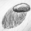 #Number 3 of a #series of #drawings of a #small #beloved #rock #stone #muse