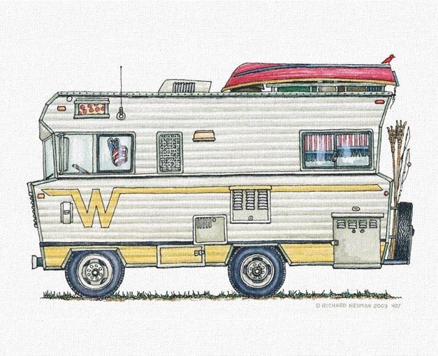 Whimsical Winnebago Camper Rv