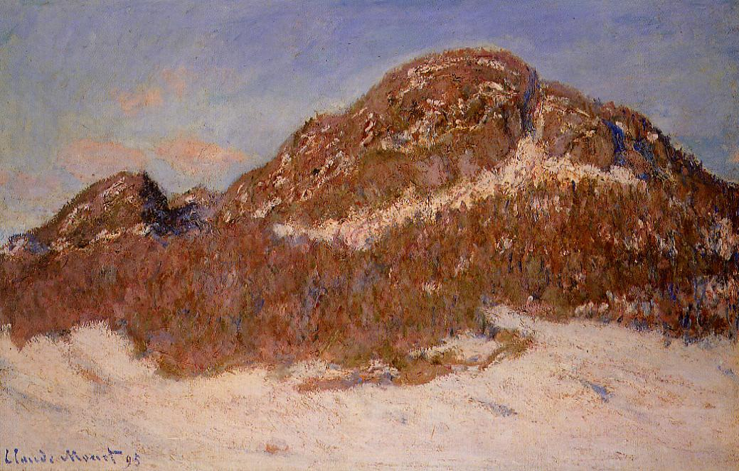 Mount Kolsaas by Claude Oscar Monet - 1895