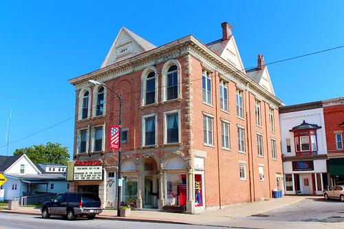 mountgilead morrowcounty ohio village downtown theater theatre movietheater knightsofpythias