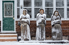 Three Monks In The Snow