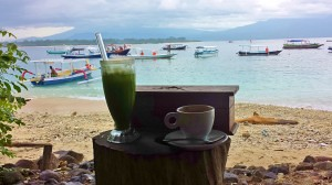 Instead of Bintang, we stuck to water, fresh green juice, and coffee