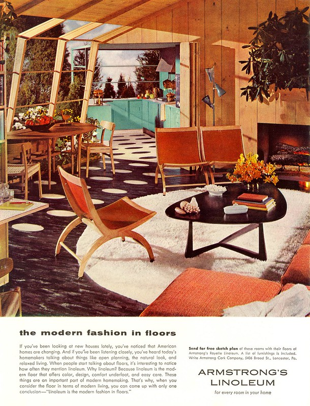 Armstrong's Linoleum - published in Woman's Day - June 1954