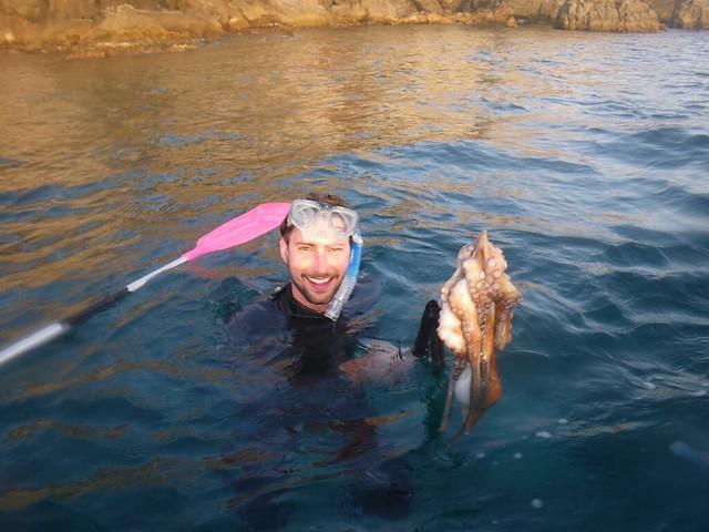 On a pêché un poulpe !