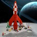 LEGO TinTin / classic space moonbase. by TheBrickMan