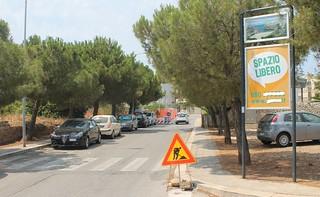 via san francesco lavori canalone polignano parcheggi