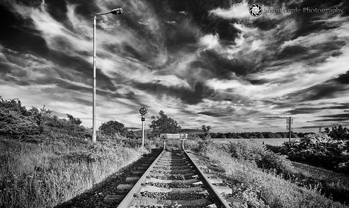summer sky bw plants moon abandoned beautiful rain clouds canon silver landscape photography shadows silent eagle outdoor north east sep northeast sunderland tynewear abandonedrailway copyright© silenteaglephotography