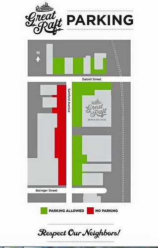 Great Raft Brewing parking map