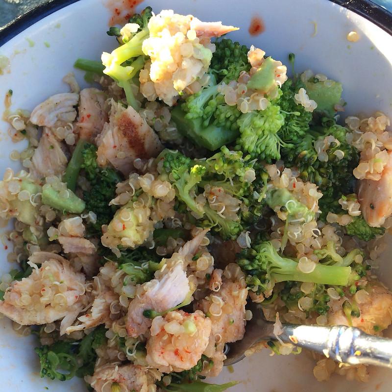 Chicken Broccoli Sriracha Bowls