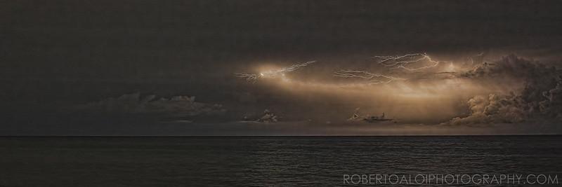 Lake Worth Beach Night Lightning 7-30-15