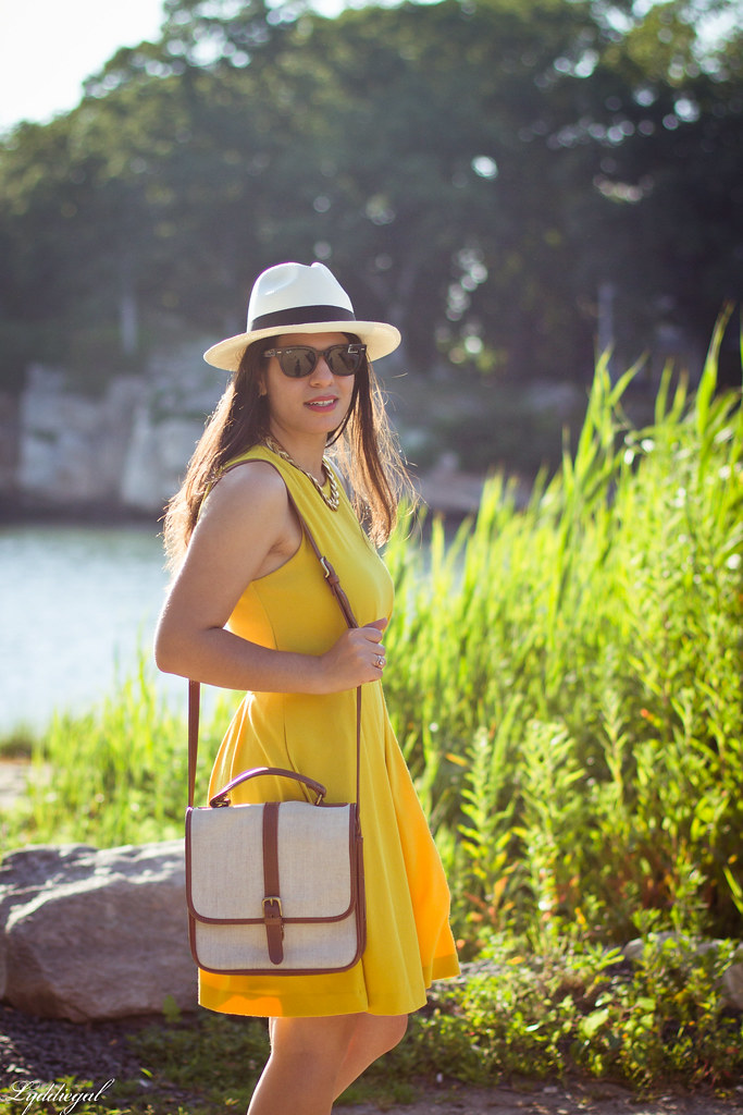 yellow dress, panama hat, summer outfit-2.jpg