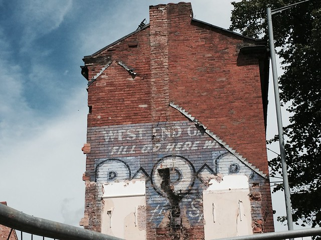 Photo:West End Garage ghost sign, 64 West Street, Warwick By hazelnicholson