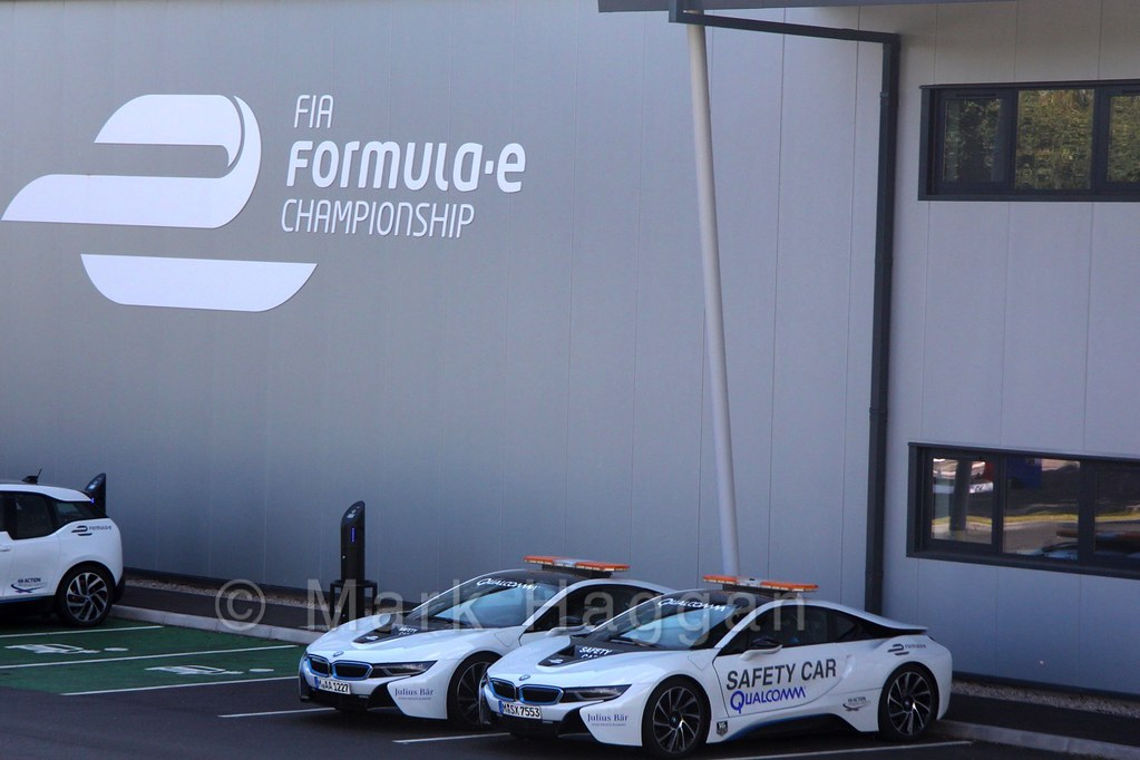 The FIA Formula E Safety Cars at Donington Park
