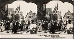 The busy market street, Belgian village