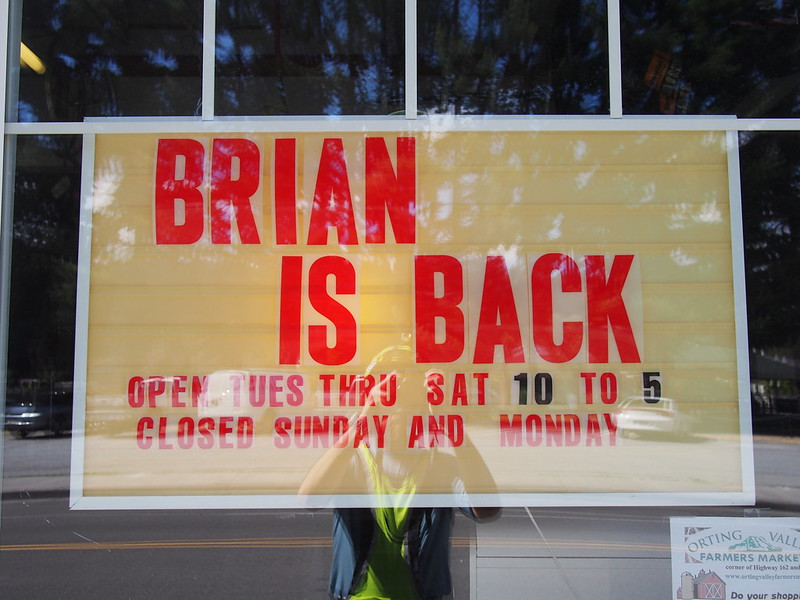 "Trailside Cyclery: ""Brian is Back"": This has been here for a while, but the owner is running the shop again."
