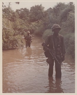 Marines Wade Up a Stream, 1966