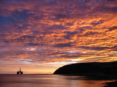 sunrise wow scotland highlands cromarty oilrig sutor canona40
