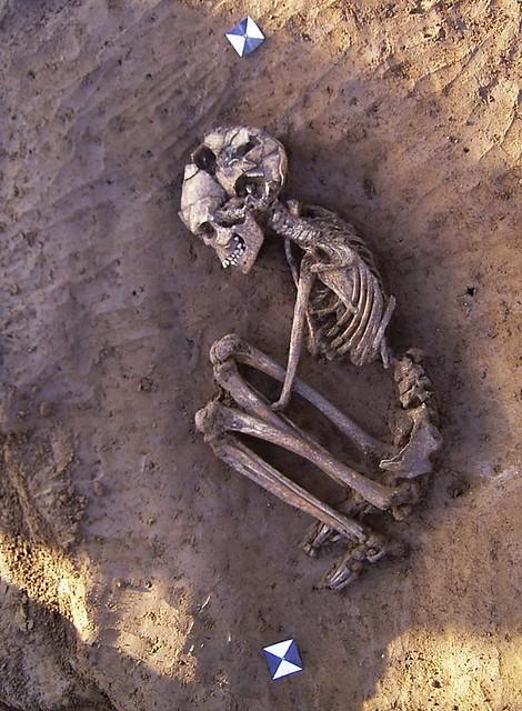 Cliffs End Farm - teenage burial