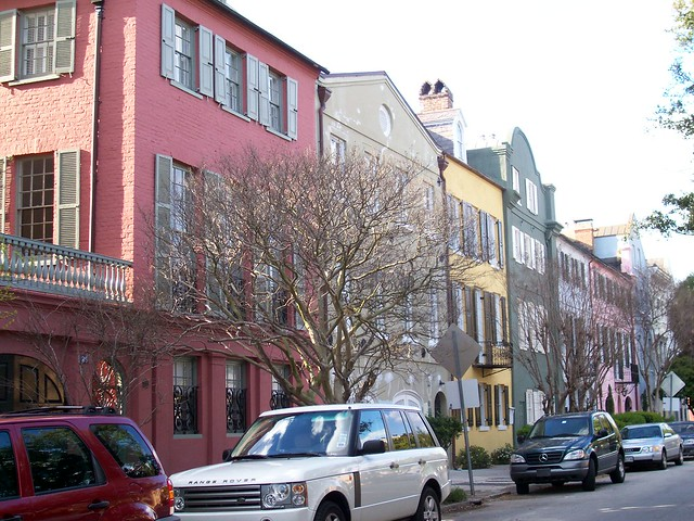 Rainbow row charleston sc flickr photo sharing for Charleston row houses