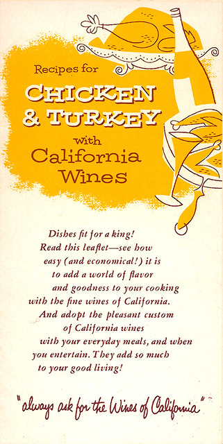 California Wines: Chicken & Turkey