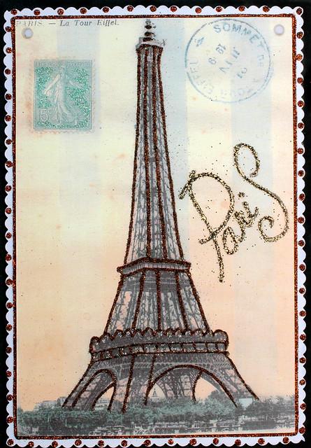 Eiffel Tower Postcard Vintage Flickr Photo Sharing