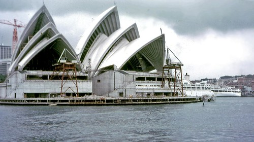 Sydney Opera House under construction, 1968 | by PhillipC