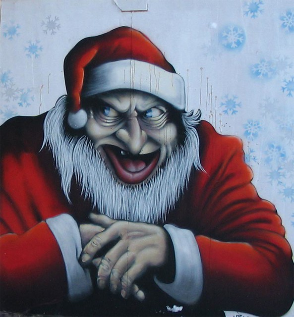 Graffiti of evil santa flickr photo sharing