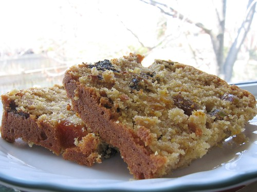 Pistachio and Dried Fruit Cake with Orange
