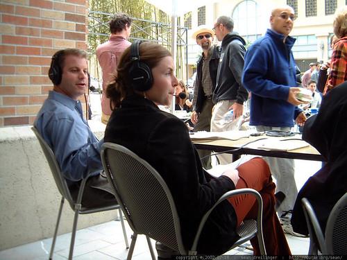 jason and rebecca modeling headphones   dscf2144