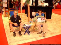 gleeco and daniel in a vendor booth   dscf2290
