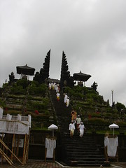 Visitors of the Besakih temple, Bali, Indonesia