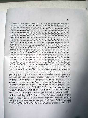 Simon Popper reordered Ulysses's words alphabetically
