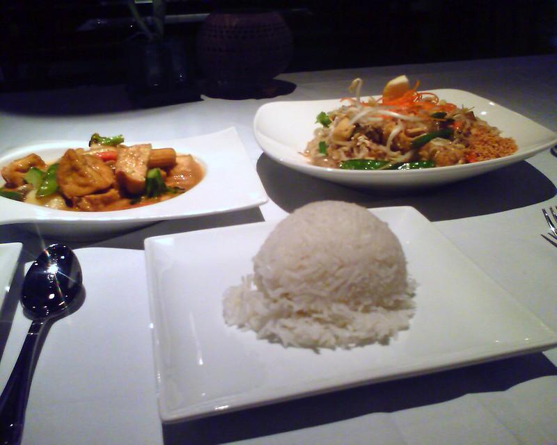 Massaman Curry and Pad Thai
