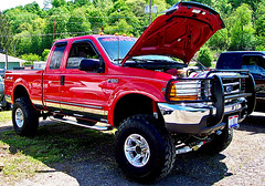 ford f-350(0.0), automobile(1.0), automotive exterior(1.0), pickup truck(1.0), wheel(1.0), vehicle(1.0), truck(1.0), ford super duty(1.0), bumper(1.0), ford(1.0), land vehicle(1.0), motor vehicle(1.0),