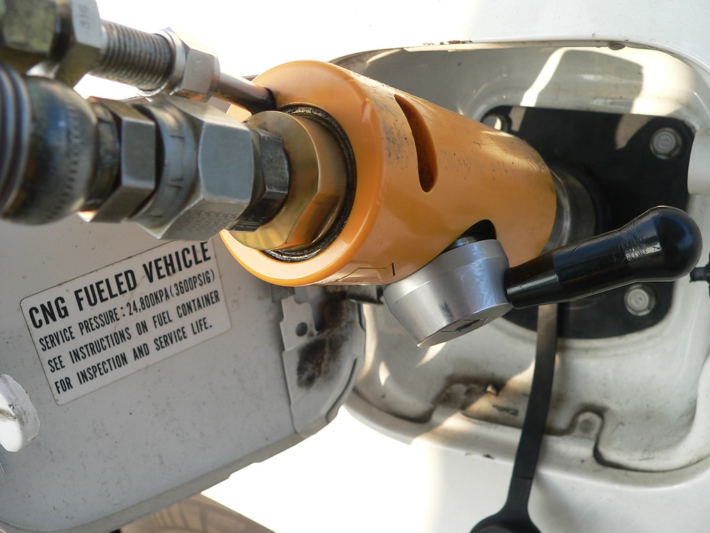 CNG fill up | Filling up my Civic GX @ Clean Energy in Burba… | Flickr