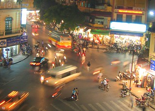 hanoi night traffic - vietnam