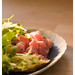 Tuna Tartare with Salad and Croutons