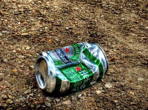 A beer can