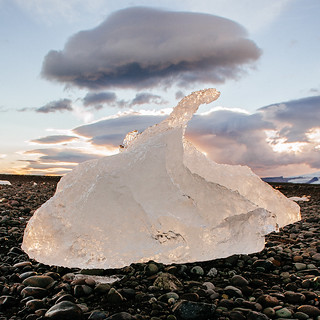Jökulsárlón - ice remains