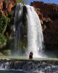 Malisa and Todd at Havasupai Falls