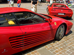 ferrari f40(0.0), ferrari f50(0.0), race car(1.0), automobile(1.0), ferrari 288 gto(1.0), ferrari 512(1.0), vehicle(1.0), performance car(1.0), automotive design(1.0), ferrari f430 challenge(1.0), ferrari 348(1.0), ferrari testarossa(1.0), land vehicle(1.0), luxury vehicle(1.0), supercar(1.0), sports car(1.0),