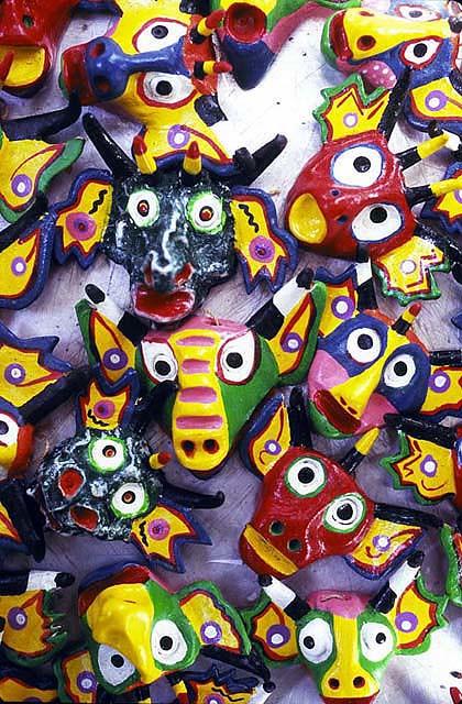 Artesania En Ceramica De Mascaras De Los Diablos De Yare   Valles Del