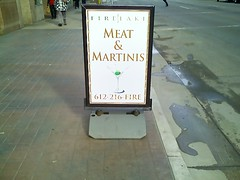 Meat & martinis