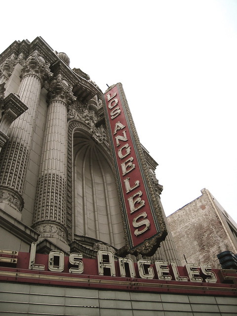 Los Angeles Theatre facade from Flickr via Wylio