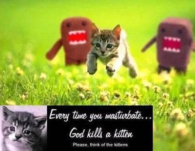 Masturbating kills kittens