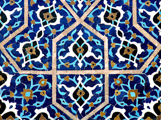 Islamic Tile Work : Isfahan jame mosque tile works flickr photo sharing