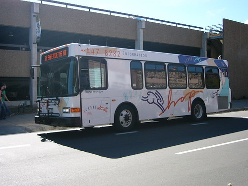 Hop branded bus, Boulder, Colorado