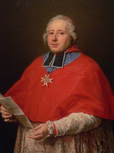 Cardinal Etienne Rene Potier De Gesvres by Pompeo-Girolamo Batoni 1758 Italy oil