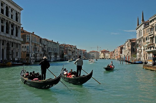 3 gondoliers, Venice by Alida's Photos